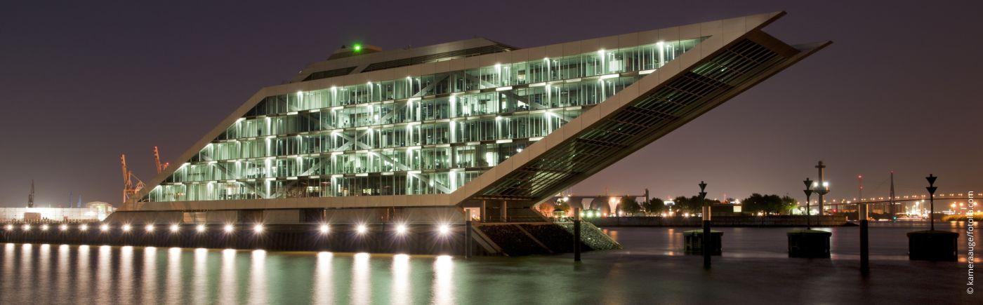 Flachdach Abdichtung für das Kontorhaus Dockland im Hamburger Hafen