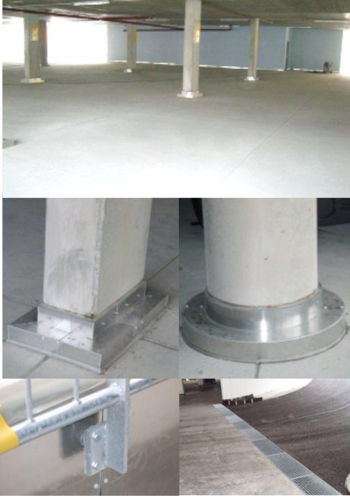 Parkdachbau - Flächen und Pfeiler / Säulen