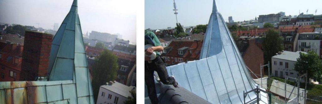 Sanierung Dachkonstruktion - Brunnenhof Hamburg
