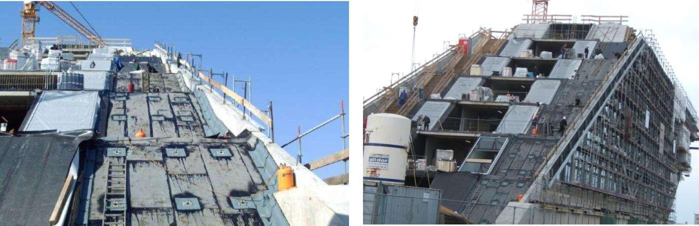 Flachdach-Abdichtung am Dockland Hamburg