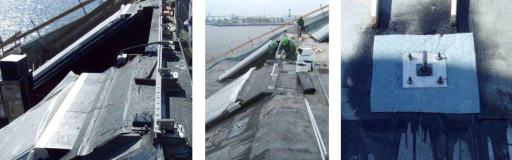 Flachdach Abdichtung Dockland - Treppenkonstruktion